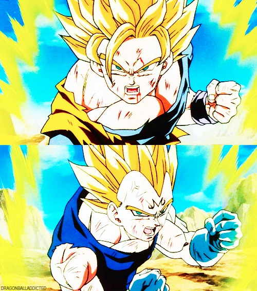 Android Saga Super Saiyan Goku Vs Vegeta