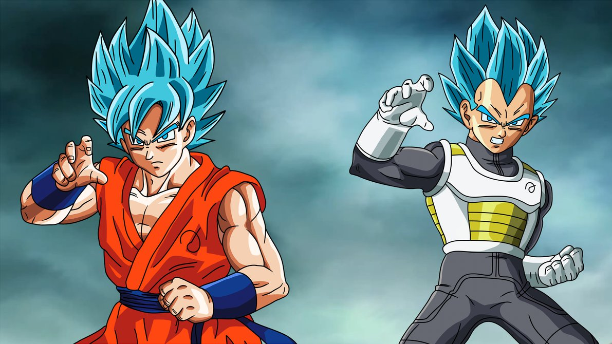 Super Saiyan 3 Goku And Vegeta Fukkatsu No F Ssjgod Wallpaper By Eymsmiley D8p4mp4