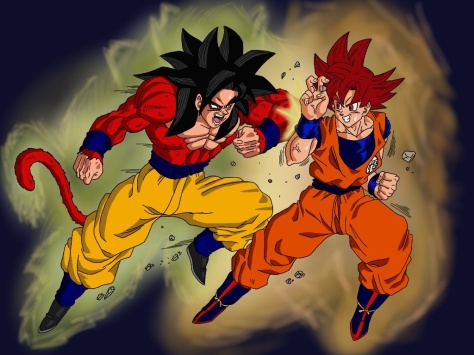 super_saiyan_4_vs_super_saiyan_god_by_delvallejoel-d66lz95